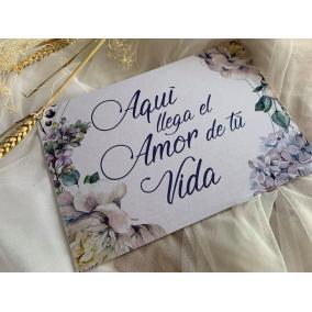 carteles para bodas aqui viene el amor