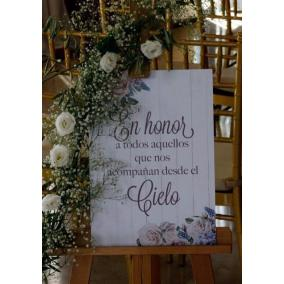 cartel de boda los que ya no estan