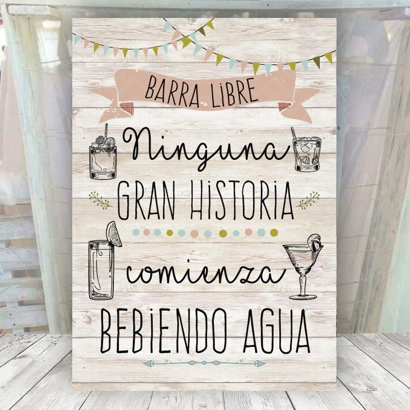 Cartel Vintage Claro Barra Libre