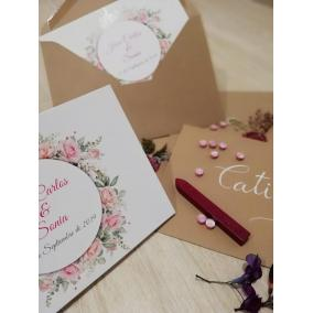 Invitacion boda barata flores