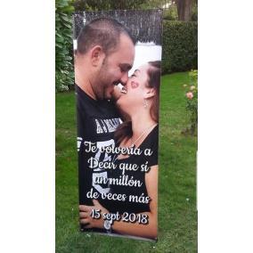 cartel bienvenida boda con foto