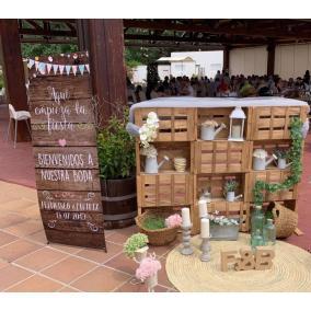 banner de bienvenida boda