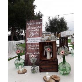 cartel bienvenida boda barato