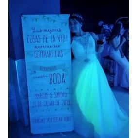 cartel madera boda barato