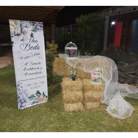 cartel bienvenida boda barato flores