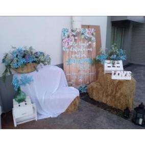banner bienvenida boda floral