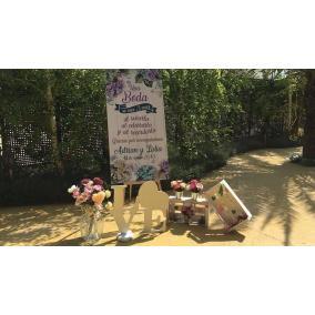 cartel boda flores