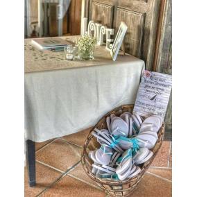 cartel zapatillas boda