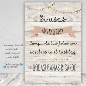 Cartel Vintage Claro Instagram