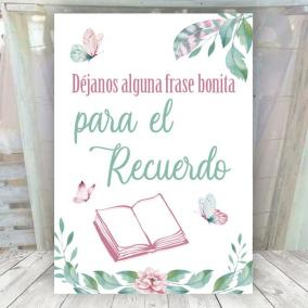 Cartel Mariposas Libro de Firmas