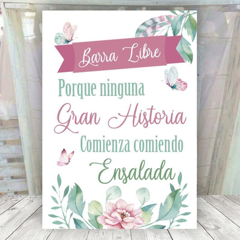 Cartel Mariposas Barra Libre