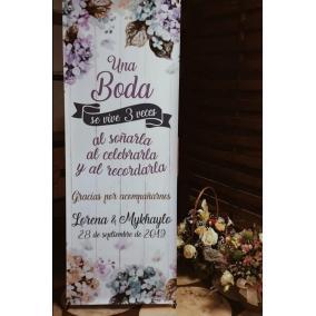cartel una boda se vive tres veces