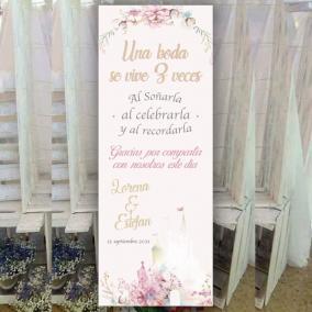 Banner Castillo Disney Floral
