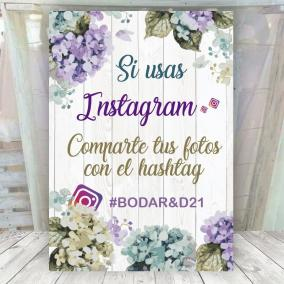 Cartel Boda Fotos Instagram