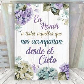 Cartel Floral Lila Desde el Cielo