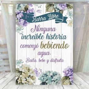 Barra Libre Cartel Flores Boda