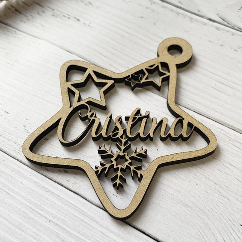 Estrella de Navidad Personalizada