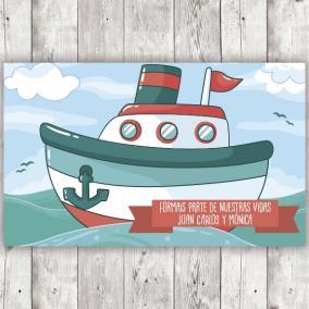 Barco con Eslogan para...