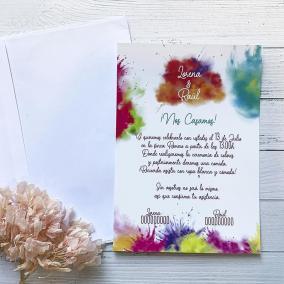 Invitación Ritual Colores