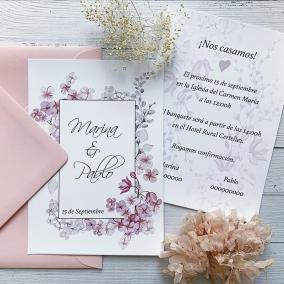 Invitación Boda Flor de Cerezo