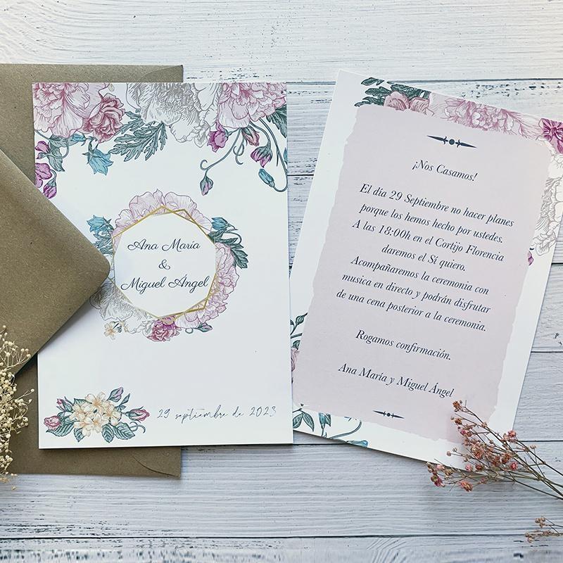 Invitación Florar Vintage