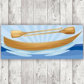 Barca madera clara