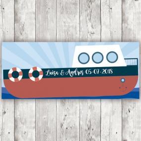 Barco Rojo Personalizado