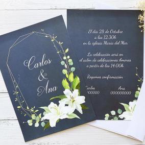 Invitación Boda Lirio