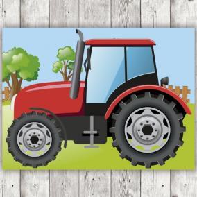 Tractor Rojo para Photocall