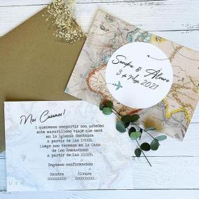 Invitación Boda Mapa