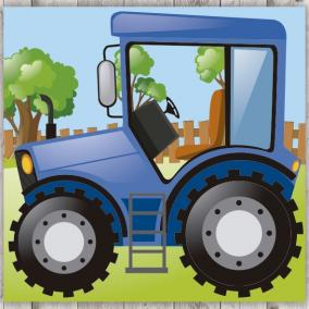 Tractor azul