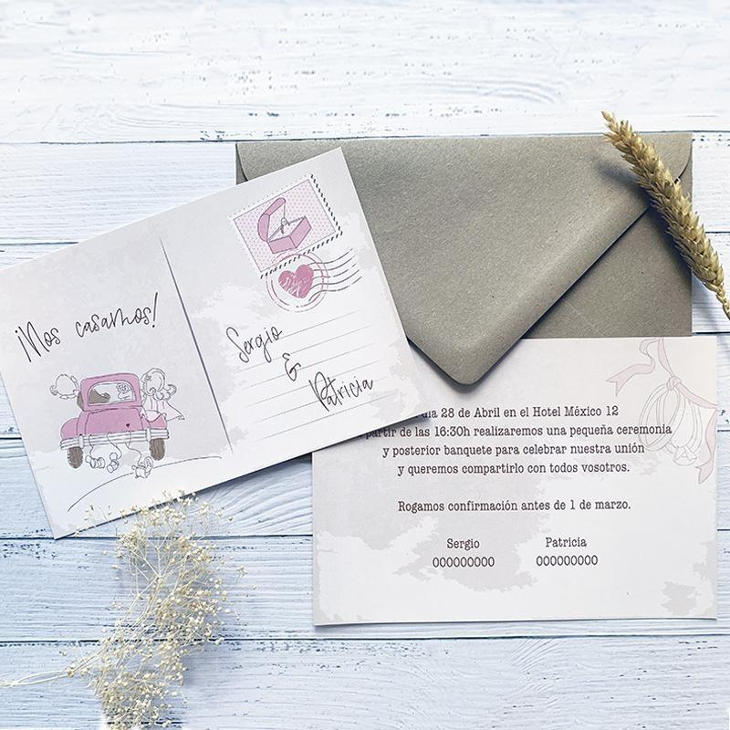 Invitación Boda Postal