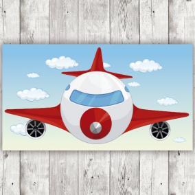 Avión rojo de Frente para...