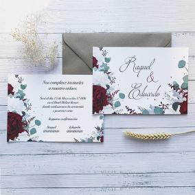 Invitación Rosas Rojas