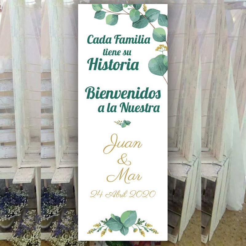 Banner para Boda Eucalipto