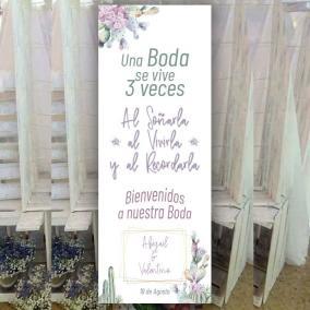 Cartel Bienvenida Cactus