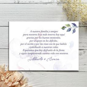 Tarjeta agradecimiento con Flor
