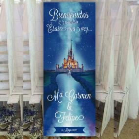 Cartel Bienvenida Castillo Disney