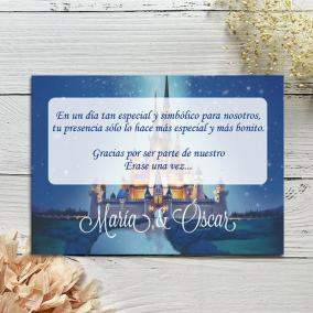 Tarjeta Agradecimiento Castillo Disney