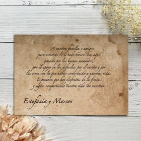Tarjeta Agradecimiento...
