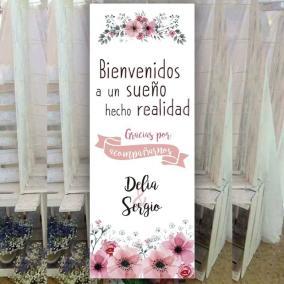 Cartel Bienvenida Cerezo en Primavera