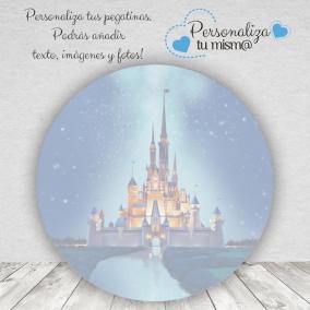 Pegatina Boda Disney Redonda