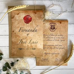 Invitación Carta Harry Potter