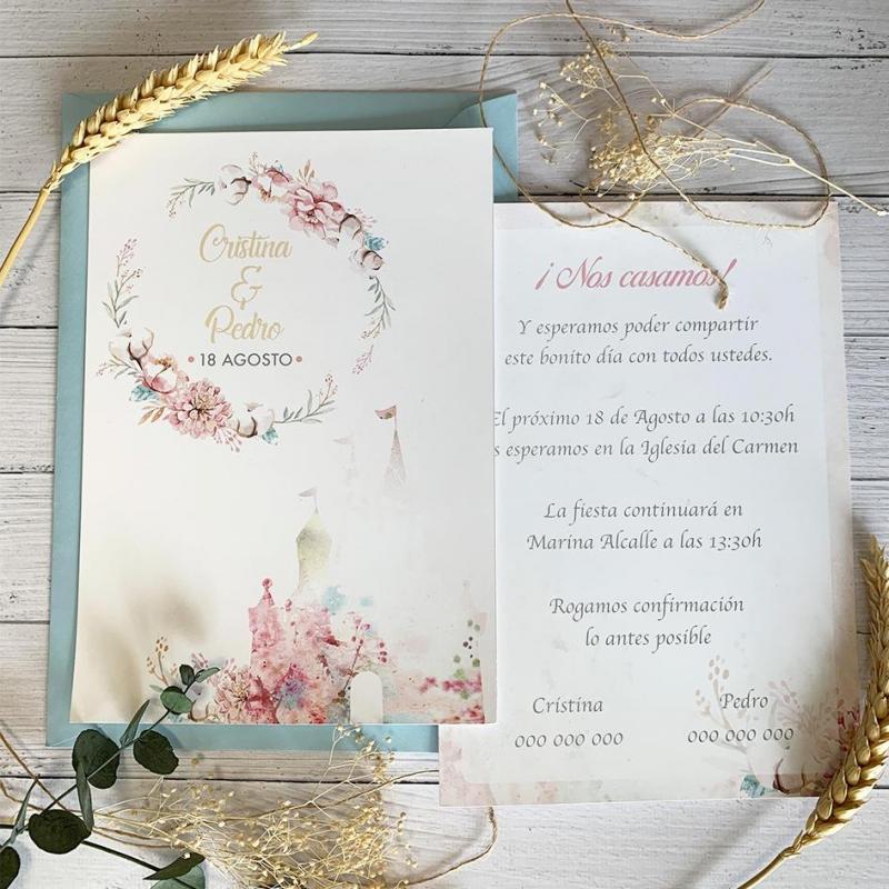 Invitación de Boda Romántica Disney