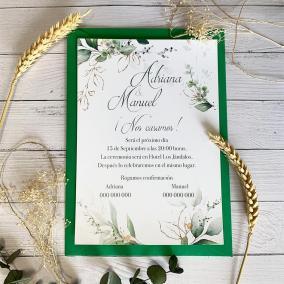 Invitación de boda barata