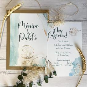 Invitación de Boda Playa
