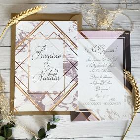 Invitación Mármol y Oro