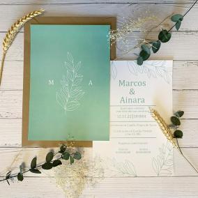 Invitacion Elegante Inspiración Verde