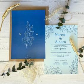 Invitacion Elegante Inspiración Azul