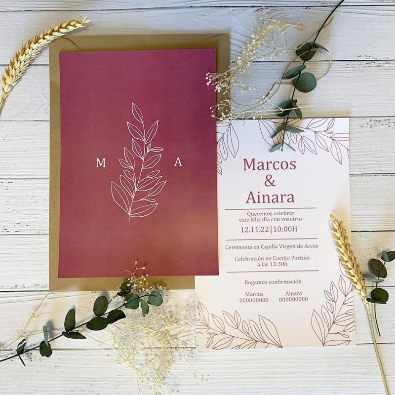 Invitacion Elegante Inspiración Rosa